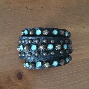 Jewelry - Studded Leather Wrap Bracelet